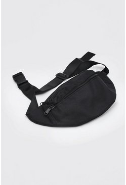 Sac banane design MAN, Noir