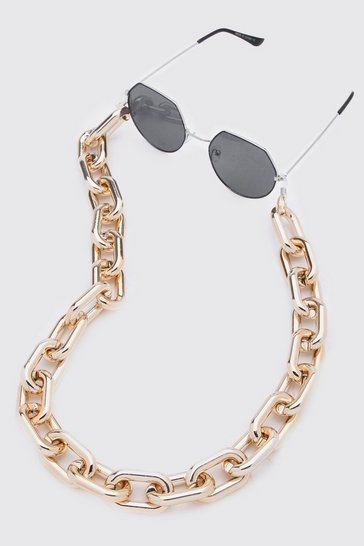 Gold Chunky Acetate Sunglasses Chain