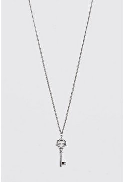 Silver Key Pendant Necklace