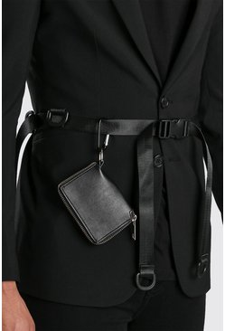 Black Wallet Clip Utility Belt
