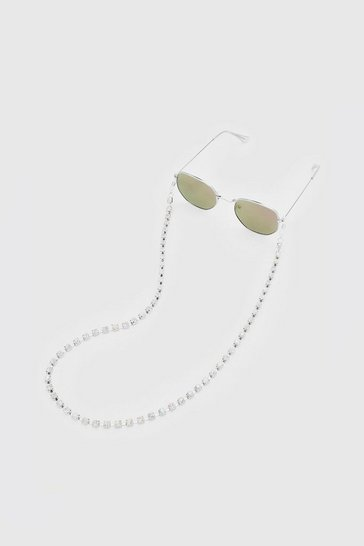 Silver Iced Sunglasses Chain