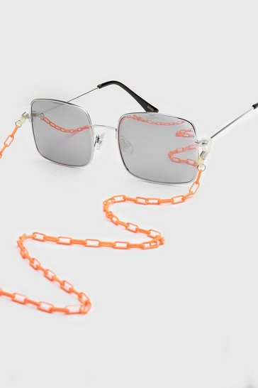 Orange Neon Fine Sunglasses Chain