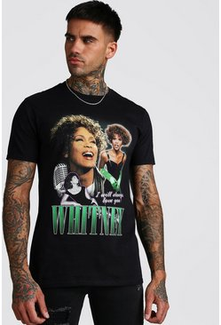 Mens Black Whitney License T-Shirt