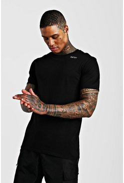 Black Original MAN Neck Print T-Shirt