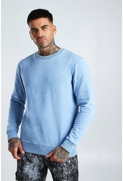 Light blue Sweatshirt In Acid Wash