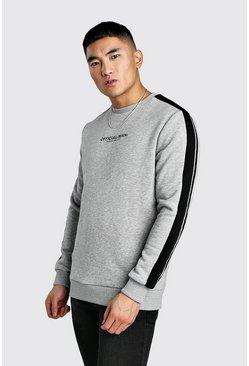 Grey MAN Official Print Sweatshirt With Tape