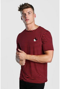 Red Disney Short Sleeve Stripe T-Shirt