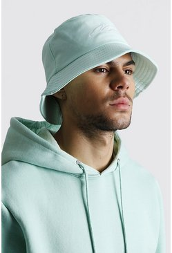 Mint MAN Script Bucket Hat