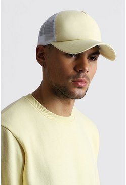 Yellow MAN Dash Mesh Back Trucker