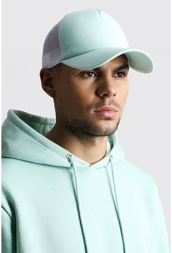 Mint Pastel Front Mesh Back Trucker