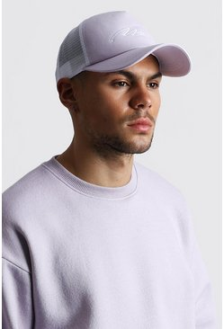 Lilac MAN Signature Mesh Back Trucker