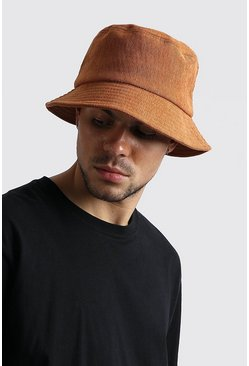 Camel Cord Bucket Hat