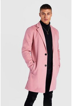 Pink Summer Wool Look Overcoat
