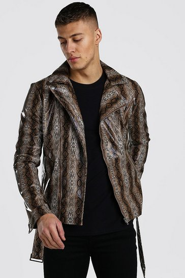 Snake Animal Leather Look Biker