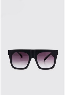Black Oversized Two Tone Lens Sunglasses