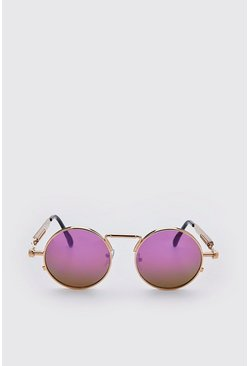 Lilac Screw Edge Vintage Sunglasses