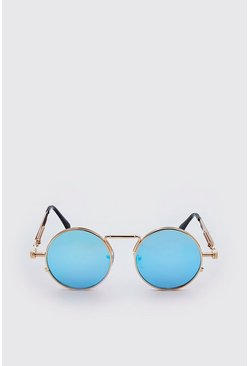 Blue Screw Edge Vintage Sunglasses