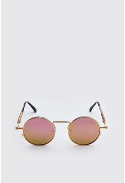Pink Screw Edge Vintage Sunglasses