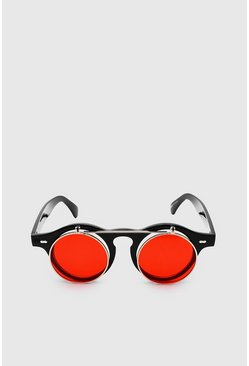 Red Flip Up Festival Sunglasses