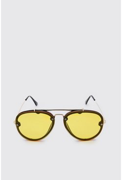 Yellow Coloured Mirror Aviator