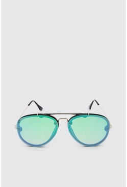 Green Coloured Mirror Aviator
