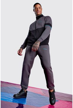 Charcoal Man Official Funnel Neck Jogger Tracksuit