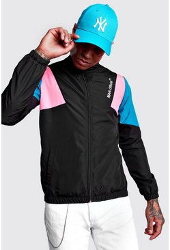 Black Man Official Funnel Neck Shell Jacket