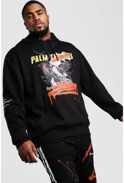 Black Big And Tall MAN Official Graphic Hoodie