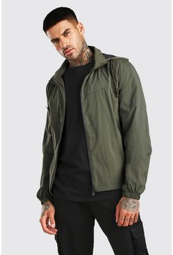 Khaki Zip Through Cagoule