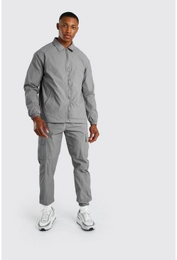 Veste harrington en coton, Gris