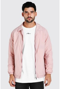 Pink Nylon Harrington Jacket