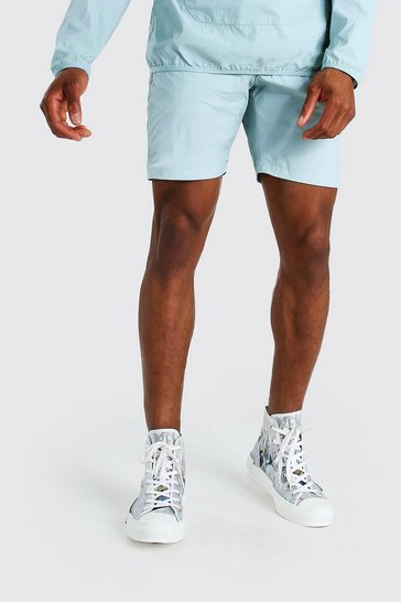 Mint Nylon Pocket Shorts
