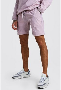 Lilac Nylon Pocket Shorts