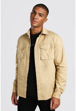 Stone 2 Pocket Utility Shirt