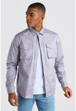 Lilac 2 Pocket Utility Shirt