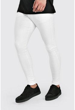 White Spray On Skinny Jeans