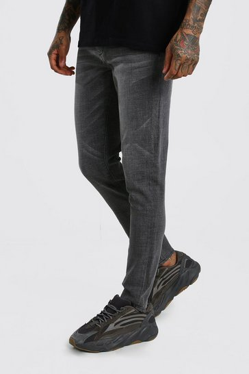 Charcoal Washed Denim Skinny Jean