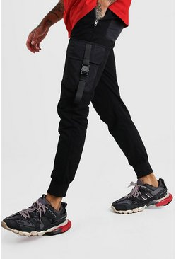 Black Cargo Pants With Buckle