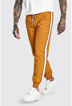 Mustard Shell Jogger With Side Tape