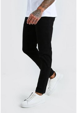 Black Super Stretch Skinny Chino Pants
