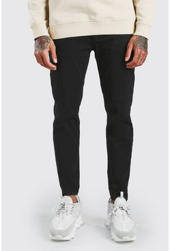 Pantalon chino skinny stretch, Noir