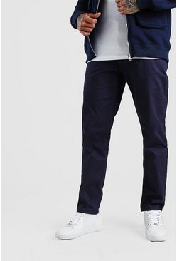 Pantalon chino skinny stretch, Marine