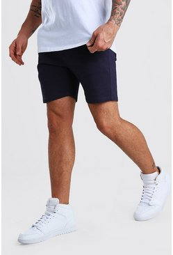 Navy Skinny Stretch Chino Shorts