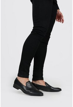 Black Pinstud Vamp Loafer