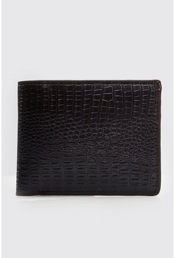 Croc Effect Wallet , Brown