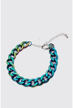 Multi Iridescent Chain Bracelet
