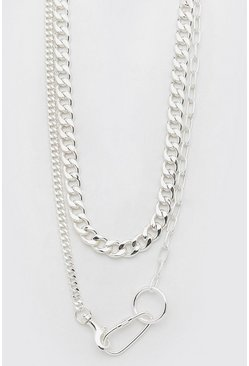Silver Chunky Double Layer Necklace