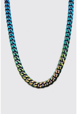 Multi Iridescent Chain Necklace