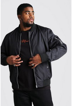 Black Big And Tall MA1 Bomber Jacket
