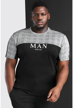 Black Big And Tall MAN Roman T-Shirt